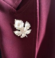 Wholesale Promotion Fashion Literary Fresh Leaf Brooch Maple Leaf Brooch Fashion Jewelry For Women Gold Plated Scarf Clips Brooches