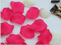 Wholesale Colors Romantic Deep Red Luxury Fabric Scatter Rose Petals Wedding Valentines Party