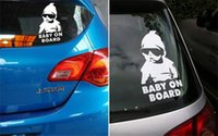 Wholesale Cool Baby on Board Car Sticker Motorcycle Sticker Vinyl Decal Waterproof Reflective Wall Stickers Car Styling