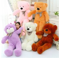 giant teddy bear - Giant Teddy Bear cm inch Cotton Dolls Toy Stuffed Animals For Plush Toys Teddy Bears Feast To Friend Favorite Gift Child s Gift Shop