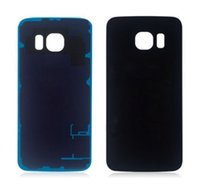 Wholesale Battery Back Housing Cover Glass Cover For Samsung Galaxy S6 Edge Plus with Tape Adhesive free DHL