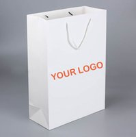 Wholesale Fashion White Paper Shopping Bags With Custom Logo Printed Suitable For Promotion And Trade Show Personalized Printing Paper Gift Bags