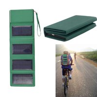 Cheap Travel Backup Power Solar Charger Power Folding Storage Bag Mobile Power Bank 4 Panel for iPhone iPad Tablet PC Digital Camera