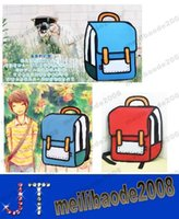 Wholesale 4 colors Gismo Cartoon Bag fashion D Jump Style D Drawing Cartoon D Shoulder Messenger Bag MYY14963