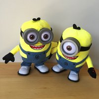 baby walking doll - Kids Toys Minions Baby Toys Doll Sing Walk Action Figure CM Despicable Me Plush Mechanical Animal Hot Toys High quality