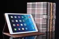 Wholesale Grid Smart Case For iPad mini Air air2 Cover Stand Luxury Business Stylish Pu Leather Cover For ipad air1 ipad mini3 ipad5 ipad6 Case