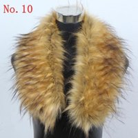 fur capes - new women winter scarf Faux raccoon fox Fur Shawl Wrap Stole cape Muffler collar