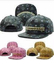 men designer caps - Fashion Mcm Leather Rvet Snapback Hats Summer Hot Brand Designer Baseball Hats Caps Sunhats For Men Women Unisex Factory Price