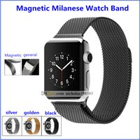 apple magnetic connector - 1 Copy Design Colour Magnetic Milanese Loop Watch Band Strap For Apple Watch iWatch Stainless Steel Magnet Strap Connector Adapter