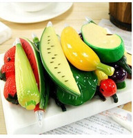 Wholesale Creative stationery cute cartoon business promotional gifts of fruit and vegetables pen