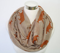 best beachwear - Multi function no mix color NEW Cute Fox Printed Infinity Loop Scarf Women Accessories Best Gift