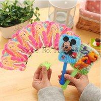 Wholesale Cute Beautiful Princess Cartoon Plastic Portable Long Folding Hand Fan PC cartoon interesting holding fan