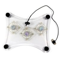 Wholesale DHL shipping Blue LED Cool Pad with built in fans transparent plastic material for Notebook Laptop waitingyou