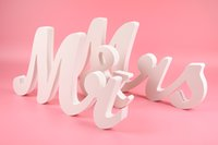 Wholesale MR MRS Letter Decoration White Color letters wedding and bedroom adornment mr mrs Wedding Style In Stock