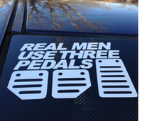 used trucks - reflective vinyl Real Men Use Three Pedals Vinyl window car truck sticker decal funny JDM