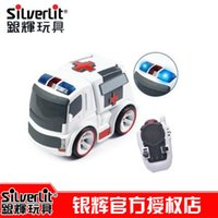 ambulance toys - Free Shiping brand Silverlit infrared remote control City ambulance fire series of electric toys for children