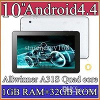 Wholesale e50pcs Google inch Quad core GHz Allwinner A31S Android tablet pc Capacitive GB GB Dual Camera HDMI Bluetooth USB OTG PB10A