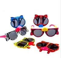 best frames kids - 2015 New arrival Folding Children s Cat eye Sunglasses lovely kid s cartoon Animal Glasses best gift for kid