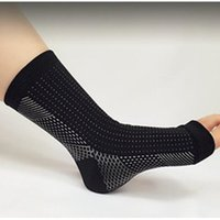 ankle compression sleeve - Unisex Black Elastic Ankle Support Anti Fatigue Compression Foot Sleeve Cycling Running Performance Sports Protection S54