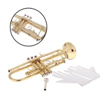 Wholesale Professional Trumpet Bb B Flat Brass Exquisite with Mouthpiece Gloves Popular Musical Instrument Top Quality