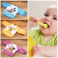 Wholesale 2016 Cute Cartoon Waterproof Children Baby Long Sleeve Bibs Apron For Baby Self Feeding Burp Cloths