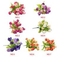 Wholesale 2015 Decor Mini Rose Artificial Flowers Decorative Flowers style Wreaths Flowers Wedding Party Decoration