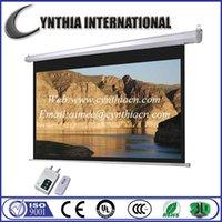 Wholesale Cynthia Screen High Gain Fiberglass Fabric HD Motorized Projector Screens With RF or IR Remote Control