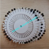 Wholesale 38mm black and white vintage color ball head sewing pin pins per wheel wheels per pack