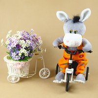 electric tricycle - Electronic electric pet donkey Riding a bicycle tricycle can move feet children love toy
