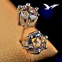 allergy free - White Gold g swiss A diamond fashion claw earrings allergy free super quality earring studs
