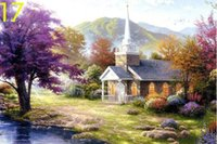 Wholesale Thomas Kinkade Wall Prints Home Is Where The Heart Is Ii Modern Beauty Oil Painting On Canvas Asian Canvas Stretched Wall