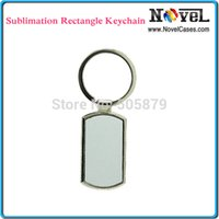 Wholesale Metal Material Sublimation Blank Rectangle Keyring KR with aluminum metal sheet to make persoanlized keyrings Fashion Accessories