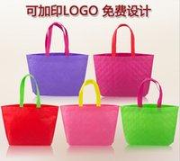 Wholesale 20pcs new Twill plaid style Non woven shopping bags Green Handbag mixing color cm cm cm