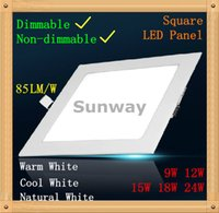 Cheap Super bright 9W 12W 15W 18W 24W square LED Panel Lights dimmable panels led Ceiling Down Lights Natural Warm Cool White