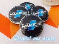 auto badge clips - mm Hartge car emblem Wheel Center Hub Caps wheel Badge covers with Balck clips Auto accessories M24193
