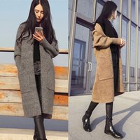 Wholesale 2016 New Women Long Cardigans Autumn Winter Thicken Jacket Coat Casual Knitted Oversized Sweater Cardigan Warm Outwear Plus Size
