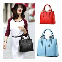 beautiful handbags - New Female PU Leather Women Bags Fashion Solid Color Brand Designer Handbags Beautiful Squareness Shoulder Messenger Bags Totes Backpack