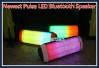 Wholesale Newest PULSE Speaker Portable Wireless Bluetooth stereo Speaker Colorful LED Light mini triangle Outdoor subwoofer Voicebox Free DHL
