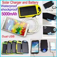 Wholesale Waterproof shockproof mAh Solar Charger and Battery Solar Panel Dual Ports power bank External Battery for Cellphone Laptop