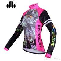 Wholesale SOBIKE MTB Fleece Thermal Winter Windproof Cycling Jacket Bike Bicycle Coat Clothing Long Sleeve Jersey Pink For Women