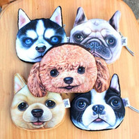 Wholesale Creative D Paintings Doge Coin Purse Harajuku Style Wallet Hand Bags dog face purse dog face purse in stock