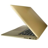 Wholesale 13 inch HD Aluminum Intel Core Laptop Computer Wind7 Wifi Webcam HDMI Golden ColorHigh Quality cheap DHL