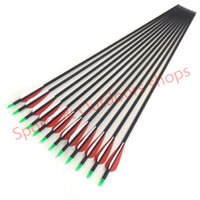 Wholesale Compound bow arrow with mix carbon and fiberglass arrow shaft for archery hunting bow inches bow arrow