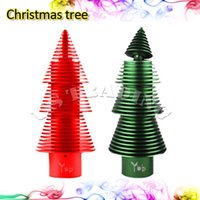 Wholesale Christmas Gift Electronic Cigarette Red Green Color Machanical Mods Newest Design Christmas Tree Mod with RDA Atomizer