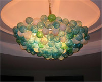 balls commercial - Mouth Blown Borosilicate Commercial LED Light Source European Italian Dale Chihuly Style Murano Glass Chandelier Ball