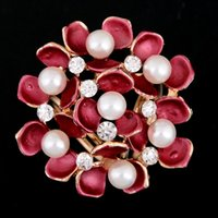 airline jewelry - Airline Stewardess Accessories Scarf Buckle Pearl Flower Clip For Women Silk Decorations Ornaments Vintage Jewelry