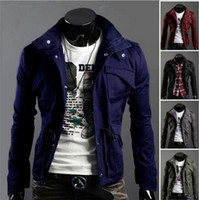 new design men jacket - Men s Coat Brand New Style Korea Outwear Hot Slim Fashion Personalized Design Jacket Size M XXXXL Colors Big Size
