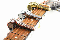 Wholesale Alice A007G Metal Crocodile Guitar Capo Clamp For Acoustic Electric Guitar Gold Silver Bronze Wholesales