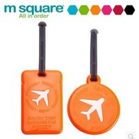 Wholesale Fashion PVC Baggage Tag Travel Suitcase Hang Tags Accessories