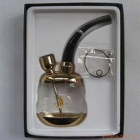 Wholesale special offer Golden upscale healthy hookah water pipe